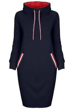 Cheap hooded dress, Buy Quality knee length dress directly from China dress fashion Suppliers: Hitmebox 2017 Fashion Casual Women Faux Pockets Color Block Knee Length Dress Code Neck Slim Fit Hoodies Fleece Hooded Dress Sweat Shirt, Sweat Dress, High Neck, Cheap Dresses Online, Casual Party Dresses, Hooded Dress, Long Hoodie Dress, Fashion Dresses, Dresses With Sleeves