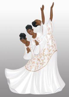 African American Praise Dancer Figurine: Giving Praise