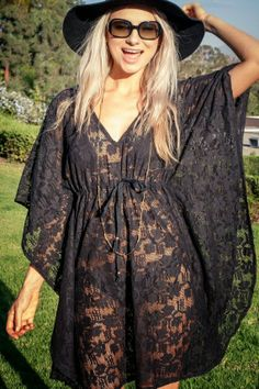 Beach Cover Up, Boho Caftan, Lace Poncho, Gypsy, Festival, Bohemian, Hippie, Beach Girl