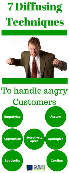 7 techniques for defusing angry customers or anyone displaying strong emotions