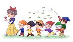 BTS fanart #SnowWhite J-Hope (Jung hoseok)