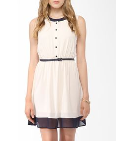 Colorblocked Dress w/ Belt | FOREVER21 - 2000046094