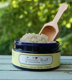 Fbiaggi - Honey  Citrus Scrub, $16.00 (http://www.greenessentialnaturals.com/honey-citrus-scrub/)