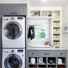 Grey Laundry Room Cabinets, Transitional, Laundry Room