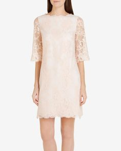 Wide sleeve lace dress - Shell   Dresses   Ted Baker
