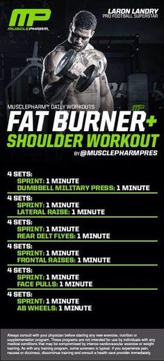 MUSCLE GAINS: Fat Burner   Shoulder Workout