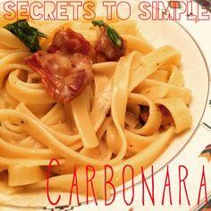 Secrets to Simple Carbonara with a Twist Recipe