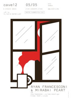 +H+ Harisson French designer based in Belgium - flyer for swiss event