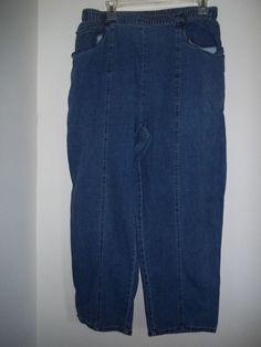 C.D. Daniels Women's Jeans Elastic Waist Straight Leg Blue Plus Size 1X #CDDaniels #StraightLeg