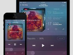 Music app concept PSD