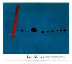 Blue II, Art Print by Joan Miro