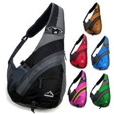 New Men women Messenger Shoulder bag sling sport Travel Chest bag Backpack nylon - May - It is The Time Club Backpack Purse, Black Backpack, Sling Backpack, Crossbody Bag, Patagonia Bags, Saddleback Leather, Briefcase For Men, Small Shoulder Bag, Shoulder Sling