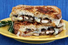 Mushroom Grilled Cheese with Balsamic- Caramelized Onions