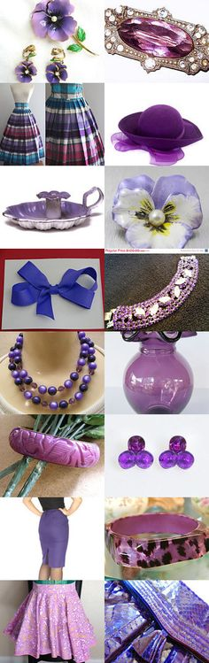 Pretty in Purple - a Vintage Vogue Team Treasury by Cherie on Etsy--Pinned with TreasuryPin.com