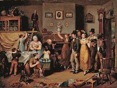 John Lewis Krimmel (German American arttist, 1786-1821) The Quilting Frolic 1813