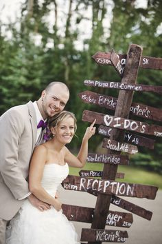 Wedding Directions Sign