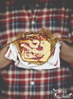 Pass the Food: raspberry & marzipan swirl brioche More