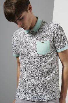 Lacoste Live polo shirt for men B Fashion, Fashion Graphic, New T Shirt Design, Shirt Designs, Facon, Pattern Fashion, Lacoste, Men Casual, Menswear