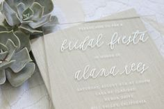 Oh So Beautiful Paper: Alana's Otomi Foil + Acrylic Bridal Shower Invitations