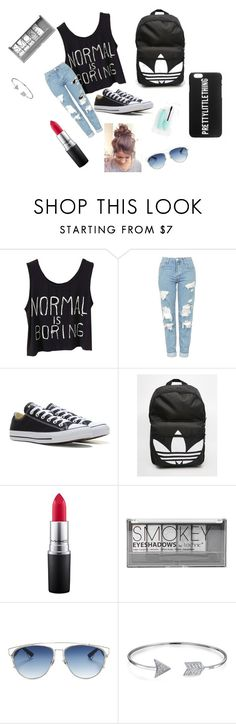 """""""Untitled #89"""" by madelyn-anderson-1 on Polyvore featuring beauty, Topshop, Converse, adidas, MAC Cosmetics, Boohoo, Christian Dior and Bling Jewelry"""