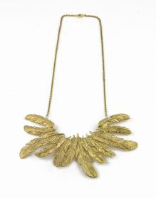 drama feather necklace • we are selecters