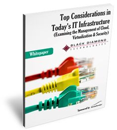 Top considerations in today's IT infrastructure (cloud, virtualization, security management)