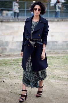Trench coat - belted at the waist