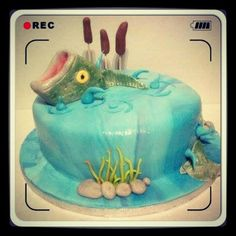 A fishing themed cake