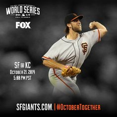 Bumgarner is on the mound for Game 1, and the battle for a THIRD #WorldSeries title in 5 years begins