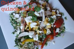 Quinoa and blackened chicken salad