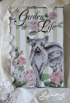 file digitale-garden life-rose rosa-cinghiale-ritratto di SafuArt