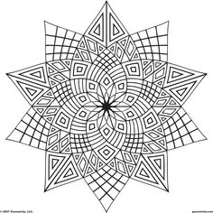 Geometric Mandala Coloring Page For Adults
