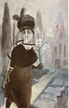 Otto Dix, Die Witwe (The Widow), 1922