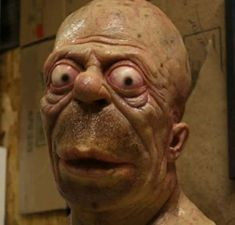 So this is what real life Homer Simpson would look like after years of alcoholism and working at the power plant. Foto Cartoon, Cartoon Art, Spooky Scary, Creepy Art, Homer Simpson, Realistic Cartoons, Popeye The Sailor Man, Human Oddities, Horror Art