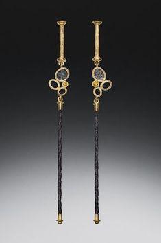 White Gold Round-Cut Diamond Stud Earrings J-K Color, Clarity) – Finest Jewelry Black Jewelry, Modern Jewelry, Metal Jewelry, Jewelry Art, Fine Jewelry, Jewelry Design, Fashion Jewelry, Unique Jewelry, Steampunk Fashion