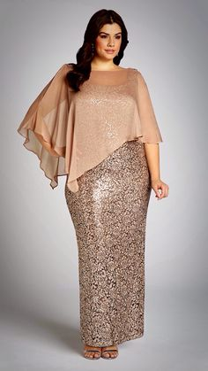Fitted Dress With Poncho