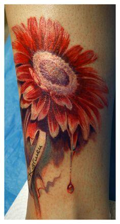 gerber daisy tattoo | 289 gerbera