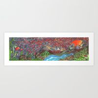 Art Print featuring Moon Shine by Juliana Kroscen Moon Shine, Design Trends, Art Prints, Artwork, Artist, Painting, Work Of Art, Artists, Painting Art
