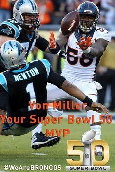 Miller Super Bowl 50 MVP Denver Broncos