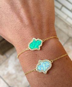 Opal Hamsa Bracelet, Gold Bracelet, Sterling Silver, Valentines gift, Minimalist bracelet, Opal bracelet, Gift for her, Bridesmaid gift,BHOP