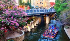 The River Walk is the center of activity in San Antonio. Tons of shops and restaurants are located along the water, and you can even take gondola rides to take in the sights in a fun and different way. Worlds Of Fun, Around The Worlds, San Antonio Vacation, San Antonio River, Visit Texas, Land Of The Free, River Walk, Texas Travel, Best Cities