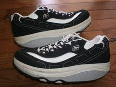 WOMENS 9 SKECHERS SHAPE-UPS black WALKING SHOES running ATHLETIC toning VGUC!