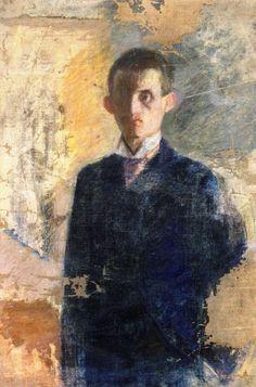 Edvard Munch - Autoportrait (1888?) Jpg.
