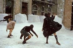 Snowball fight in the Hogwarts grounds. Taken by Remus Lupin, December Narnia, Story Inspiration, Character Inspiration, Disney Films, Look Dark, The Book Thief, Creepy, Aesthetic People, Belle Aesthetic