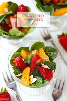 Strawberry Poppyseed Spinach Salad