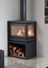 Rocal Habit L Wood Burning Corner Stove Stove Fireplace, Wood Fireplace, Modern Fireplace, Fireplaces, Wood Burning Stove Corner, Corner Stove, Modern Log Burners, Cottage Shabby Chic, Angles