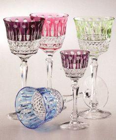 Faberge Crystal Goblets...love.....