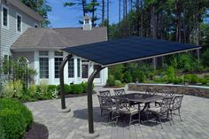 Solar canopy backyard patio gallery