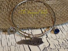 Kentucky Born and Raised Hand Stamped Metal by TheTranquilTulip
