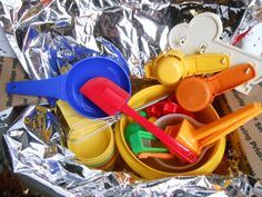 Children Baking Set / Tupperware Toys / by MissMarigolds on Etsy, $27.50